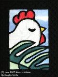 干支キルト:トリとラウアエ ステンドグラスキルトタペストリー30_40 Pattern