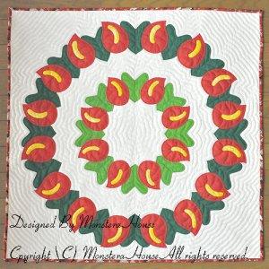 画像1: 2012年クリスマスタペストリー アンセリウム80cm