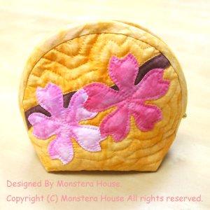 画像1: 桜のラウンドポーチ