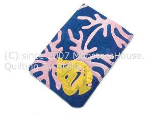 画像3: フタ付簡単ミニポーチ サンゴとトビチョウチョウウオ