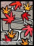 11月:もみじと石畳 Pattern